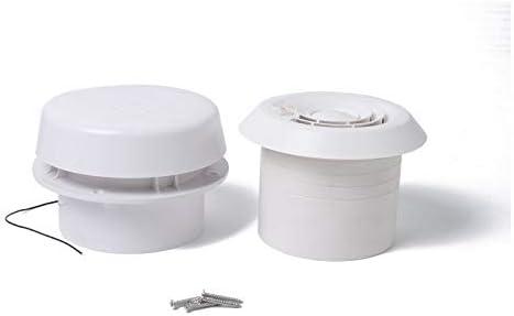 TMYQM 低ノイズと強い風12VとRVキャラバンミニベントファンのためのトレーラーの屋根エア換気ラウンドベント (Color : White)