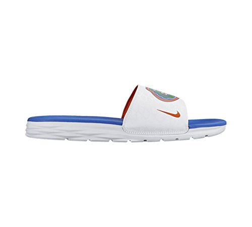 Nike Mens Benassi Solarsoft College Florida Gators Wit / Universiteit Oranje / Koninklijk Spel