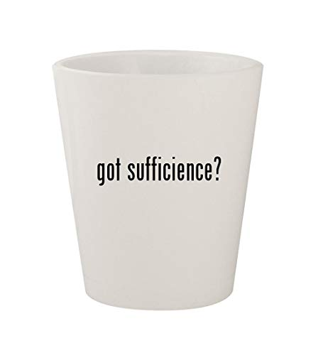 got sufficience? - Ceramic White 1.5oz Shot Glass -