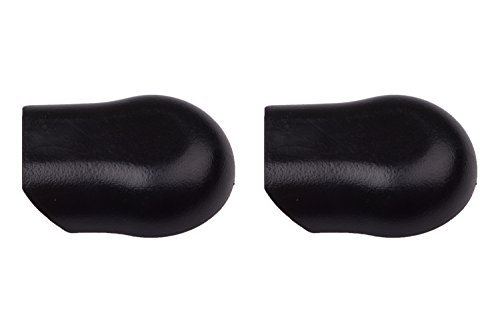(2) Front Windshield Wiper Arm Nut / Bolt Black Cover Caps