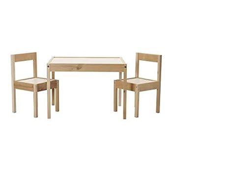 Sedie In Legno Ikea : Childrens lÄtt tavolino 2 sedie in legno di pino colore: bianco ikea