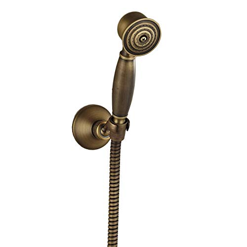 Rozin Antique Brass Handheld Showerhead + Shower Holder + Shower Hose