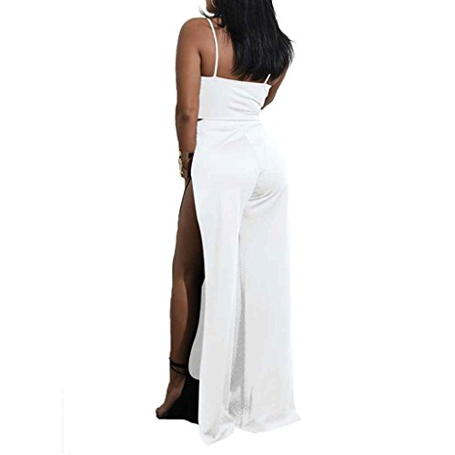 Split Fashion Top Gonna Bandage Dress Maxi Pezzi Crop Long Sexy Bianco Mengonee Set Donna Due qIw7S