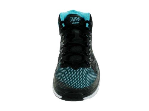 Nike Free Trainer 7.0 Nrg Heren Ronde Neus Lederen Grijze Loopschoen Zwart / Lt Armory Blauw / Gmm Blauw