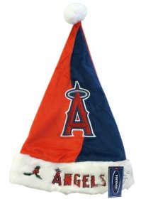 Forever Collectibles MLB Los Angeles Angels Santa Hat, Team Colors, One Size ()