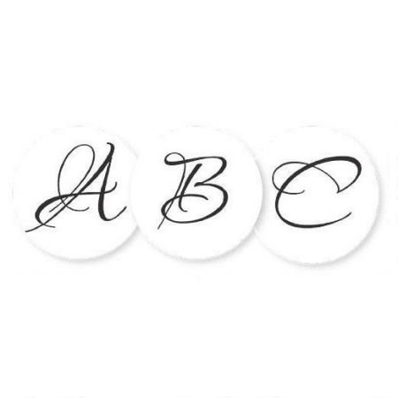 Brush Personalized Initial Stickers- Set of 144 Envelope Seals