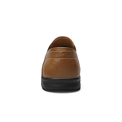 Acogedor Los Barco De Respirable Del Hueco Hombres Zapatos Movimiento Planos Khakihollow Casuales Desodorante Zapatillas Manga Antideslizante Mocasín vzzAdwqr