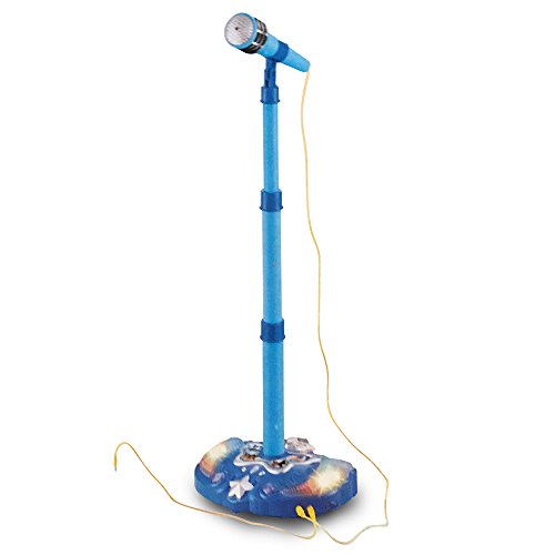 - LilPals Child's Karaoke -Children's Toy Stand Up Microphone Play Set w/ Built-in MP3 Player, Speaker, Adjustable Height (Blue)