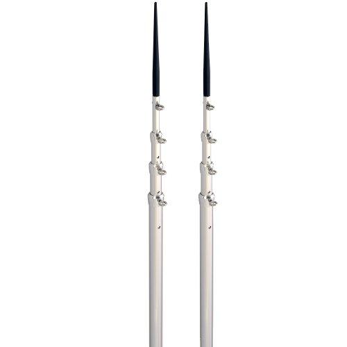 Lee's 16.5' Bright Silver Black Spike Telescopic Poles -