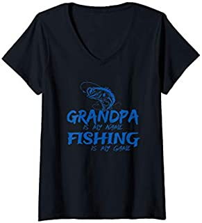 Best Gift Womens Fishing Gift  Fly Fishing Angler Grandpa Fishing V-Neck  Need Funny TShirt