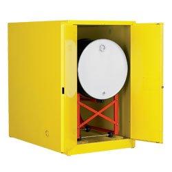 Eagle 1928 Drum Storage Safety Cabinet, Manual Closing, 2 Door, Horizontal Drum, 31-1/4