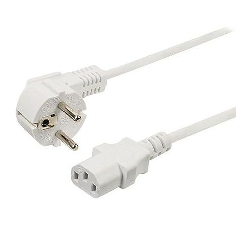 Cable de alimentacion CPU CEE7/M-C13/H 3 Metros Blanco ...
