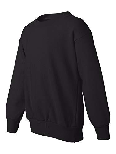 Hanes Youth 7.8 oz 50/50 Crewneck Sweatshirt in Black - Large (14/16) 50 Youth Crewneck Sweatshirt