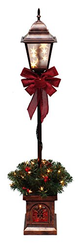 4' Christmas Lamp Post Tree, Clear Lights (3) ()