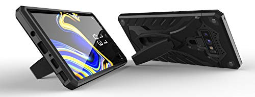 Kitoo Designed for Samsung Galaxy Note 9 Case with Kickstand, Military Grade 12ft. Drop Tested - Black
