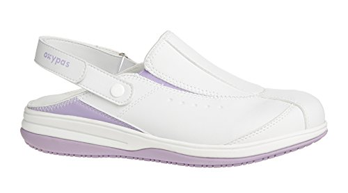 Oxypas Iris, Women's Safety Shoes, White (Lic), 4 UK (37 EU)