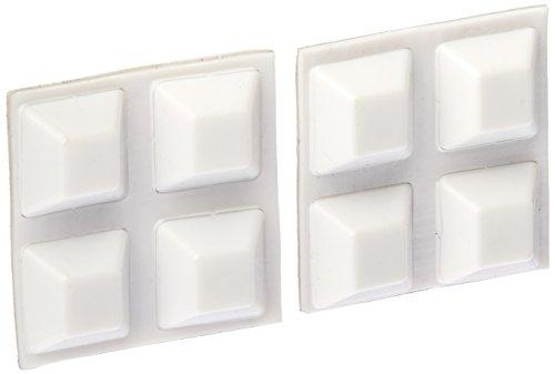 [해외]내셔널 하드웨어 N225-433 V1708 범퍼 화이트, 8 팩/National Hardware N225-433 V1708 Bumpers in White, 8 pack
