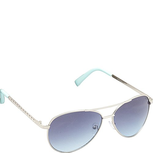 union-bay-womens-u537-slvaq-aviator-sunglasses-silver-aqua-60-mm