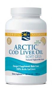 Nordic Naturals - Arctic Cod Liver Oil (Lemon) - 180ct