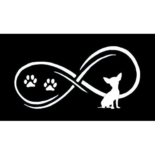 Wholesale C1058 Chihuahua Dog Infinity Decal Sticker for cheap