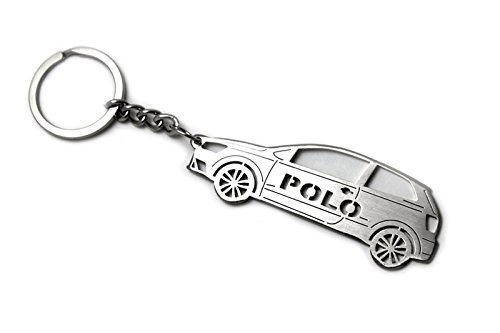 Amazon.com : Keychain With Ring For Volkswagen Polo V 3D ...