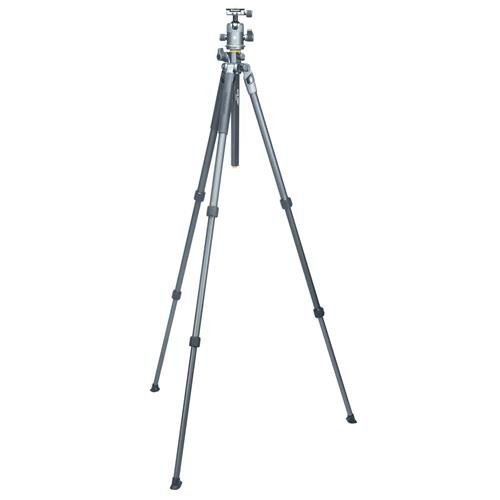 Vanguard ALTA PRO 2+ 264AT 4-Section Aluminum Tripod, 15 lbs Capacity, 59'' Maximum Height, Gray ALTA BH-100 Aluminum Alloy Ball Head
