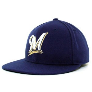 MLB Milwaukee Brewers Game Youth AC On Field 59Fifty Fitted Cap-612
