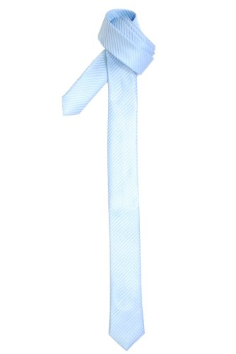 (Retreez Skinny Tie with Stripe Textured - Light Blue)