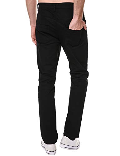 DAZZILYN Mens Slim Fit Stretch Ripped Destroyed Holes Skinny Jeans Zippers Denim Pants by DAZZILYN (Image #4)