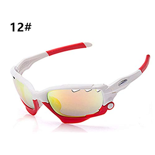 New Cycling Glasses Bike Glasses Outdoor Sports MTB Bicycle Sunglasses Goggles Eyewear for Men Women,12