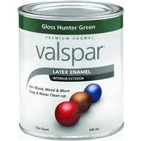 Hunter Green Enamel - Valspar 65096 Premium Interior/Exterior Latex Enamel, 1-Quart, Gloss Hunter Green