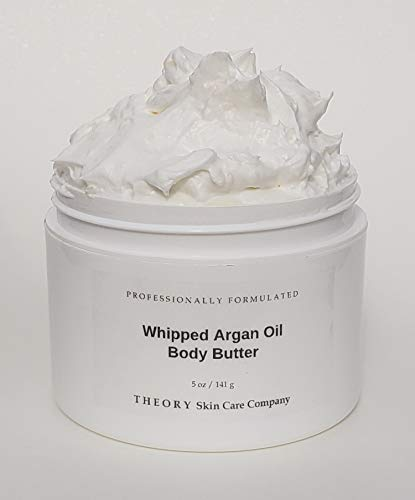 Whipped Argan Oil Body Butter with Shea Butter and Vitamin E Skin Softening Lotion