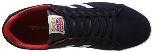 Gola Heren Equipe Suede Mode Sneaker Marine / Wit / Rood