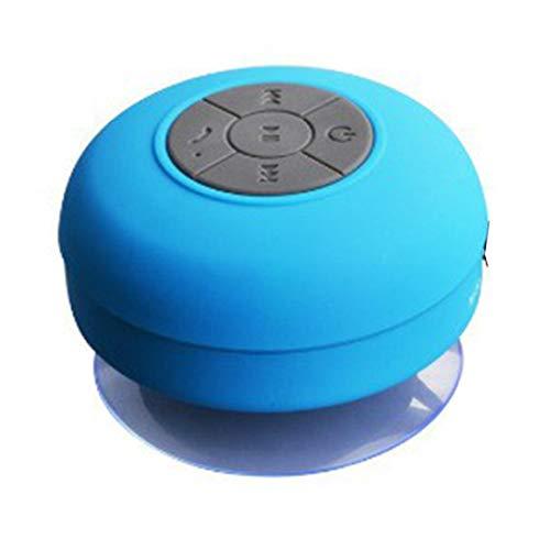 Bellaluee Portable Wireless IPX4 Waterproof Shower Speaker Handsfree Sucting Mic Car Bathroom Wireless Audio…