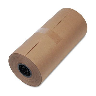 United Facility Supply 1300015 40-Lb. mediumweight 9 Dia. Brown Kraft Wrapping Paper roll, 18w x 900-ft. by United Facility Supply