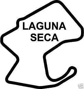 Online Design Laguna SECA Moto Gp Sticker Decal Race Car Track Usa Schwarz
