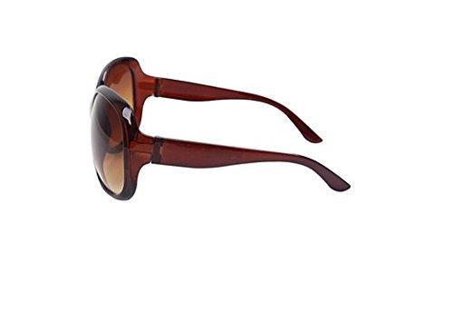 la de Grande Gafas Señora Marco de Polarizadas Gafas de Sol Marrón Gafas al Sol Manera UV400 la de Ruikey de Aire Libre Sol SW0qXaX