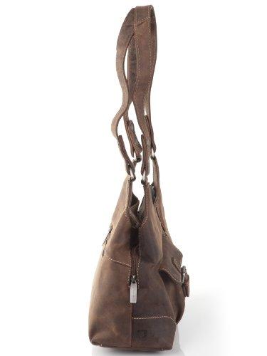 Borsa a tracolla con borsa minadesign Greenburry Vintage Revival VOL, 1 Borsa da donna in pelle sella 31 x 27 x 14 cm marrone