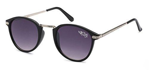 New Vintage Classic Retro Men Women Clubmaster Outdoor Sport Fashion Sunglasses, Silver and Black