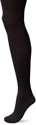 No Nonsense Women's Rib Texture Control Top Tight Sockshosiery, -black, ()