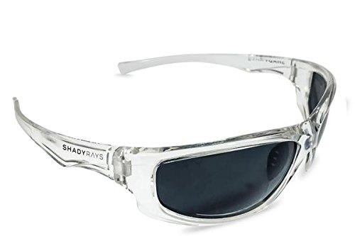 Shady Rays Polarized Sport Sunglasses X Series, Black, - Glasses Shady