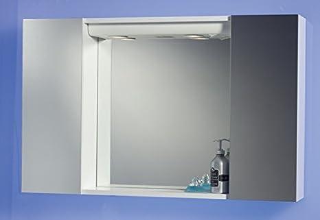 Specchiera Specchio Contenitore Bagno da 94x60x17 Colore Bianco con ...