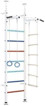 Escalera sueca de interior para niños con barra de dominadas: escalera sueca para niños, barra de