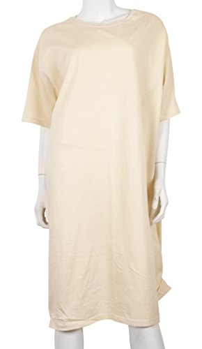 Cotton Extra Long T-shirt - JOTW Women's Hanes Extra Long 100% Cotton Beige Nightshirt New York One Size