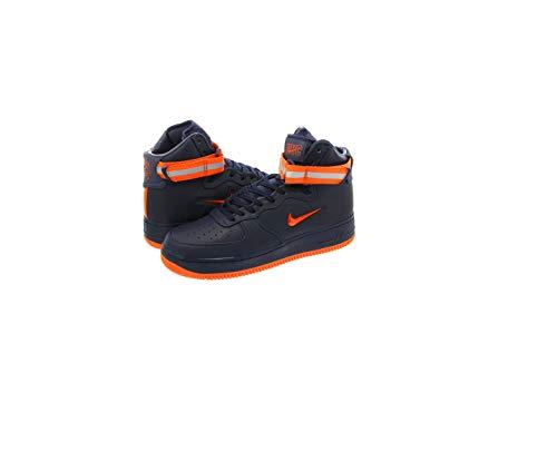 Nike AIR Force 1 HIGH Retro PRM QS Mens Fashion-Sneakers AO1636-400_12 - Obsidian/Brilliant Ornge ()