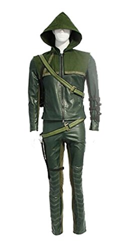 [Hot TV Series Classic Archer Green Costume Men's Halloween Costume Outfit (Custom-made, Green)] (Custom Made Halloween Outfits)