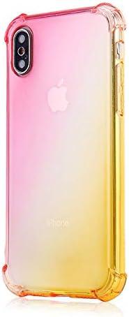 AMEINV Caja del teléfono móvil Gradient Color Phone Case Back Soft ...