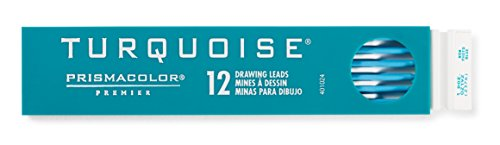 Prismacolor Premier Turquoise Graphite Drawing Leads, Non-Photo Blue, 2mm, 12-Count by Prismacolor