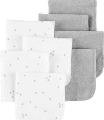 Child of Mine by Carters Washcloths, 8-Pack (Baby Boys or Baby Girls Unisex) (Carters Child Mine)