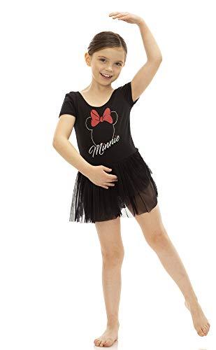 Disney Princess Toddler Girls' Ballet Minnie Mouse Black Short Sleeve Dress (3T)